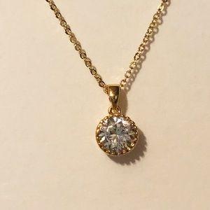 Jewelry - Dainty Cubic zirconia solitaire pendant
